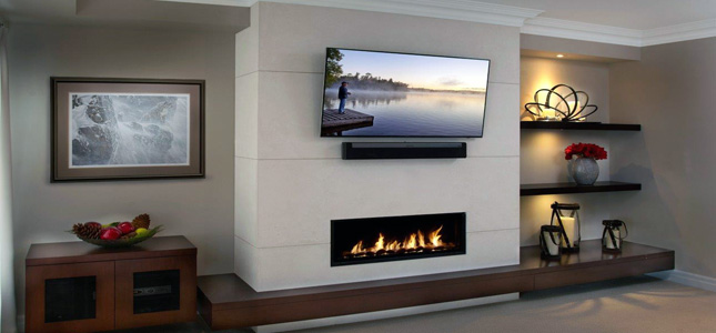 Watch as Omega switches time periods with stacked stone Fireplace Mantels