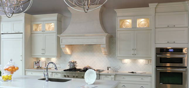 A cast stone hood for any space