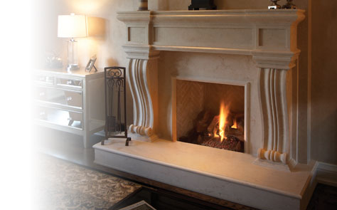 Fireplace Mantels Seamless Series - Artisan Cast Stone Fireplace Mantels For Your Home Omega Mantels
