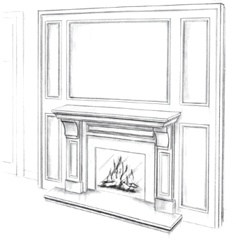 Omega custom precast fireplace mantels