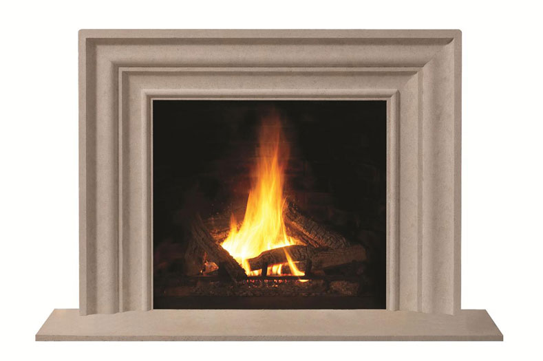 how to clean limestone mantel soot