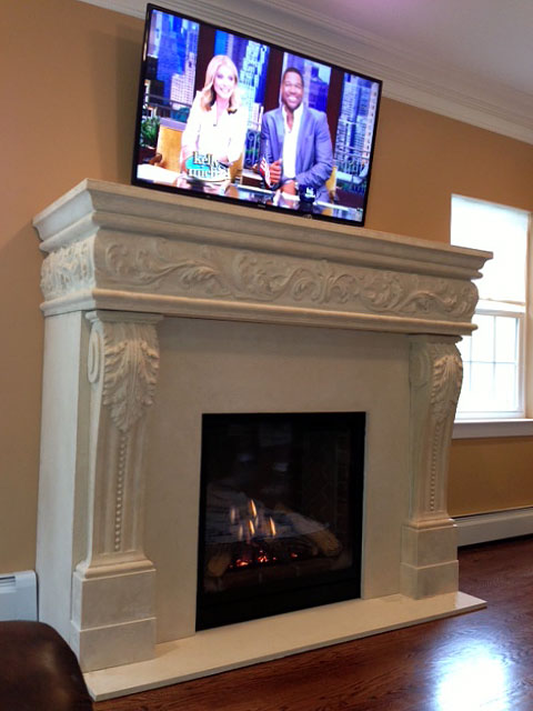 Large collection of fireplace stone mantels design ideas for your home improvement project. Free consultation in North America by calling our hotline.