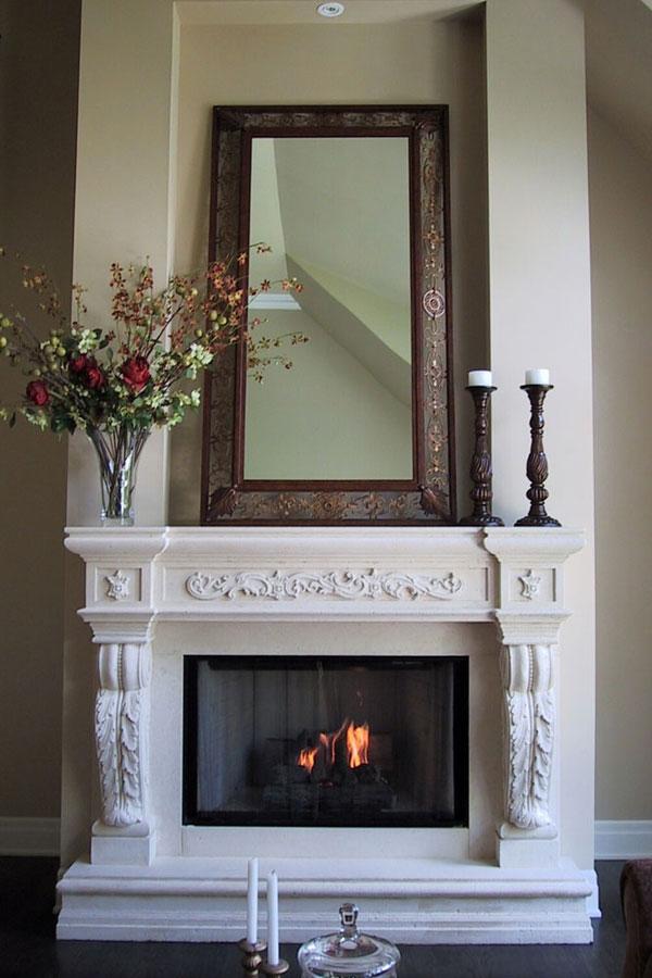 Fireplace Stone Mantels Gallery | Omega Mantels