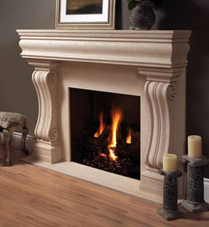 1106.11.538 fireplace stone mantel