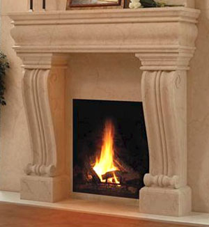 1106.536L fireplace stone mantel