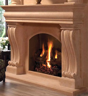 1108.536 fireplace stone mantel
