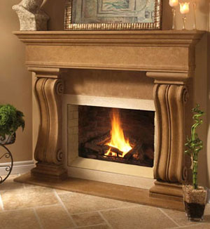 1110.538 fireplace stone mantel