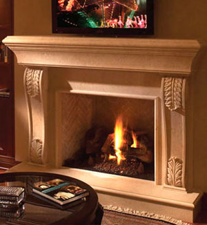 1112.533 fireplace stone mantel