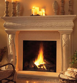 1127.577 fireplace stone mantel