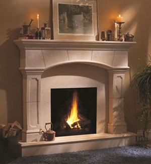 1130.70.530 fireplace stone mantel