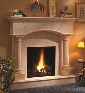 1130.70.531 fireplace stone mantel