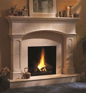 1130.80.530 fireplace stone mantel
