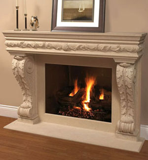 1136.11.545 fireplace stone mantel