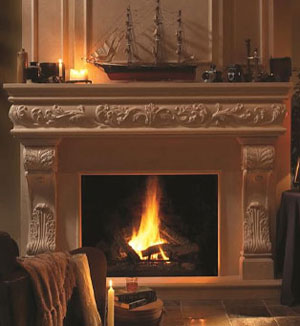 1136.548 fireplace stone mantel