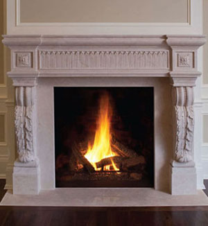 1141.524 fireplace stone mantel
