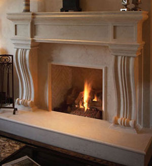 1143.536 fireplace stone mantel