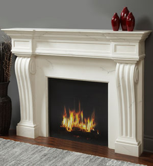 1144.11.535 fireplace stone mantel