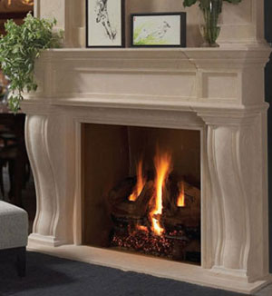 1144.577 fireplace stone mantel