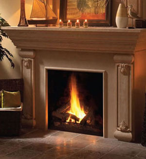 1160.540 fireplace stone mantel