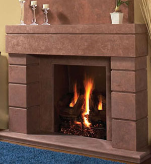 7704 fireplace stone mantel