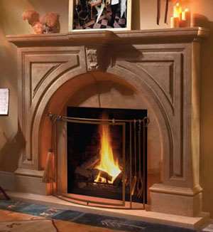 Atlanta fireplace stone mantel