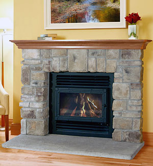 Elk Ridge fireplace stone mantel
