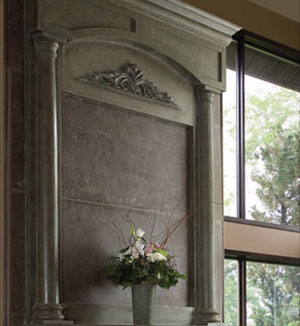 Azzuro fireplace stone overmantel