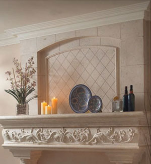 Caledon fireplace stone overmantel