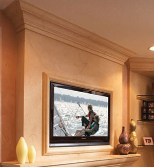 Capri fireplace stone overmantel