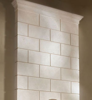 Classic fireplace stone overmantel