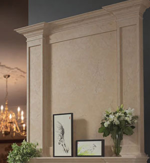 Fresno fireplace stone overmantel