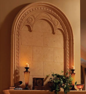 Monaco fireplace stone overmantel