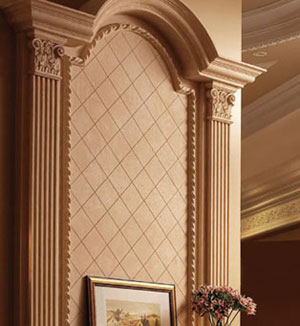 Royal fireplace stone overmantel