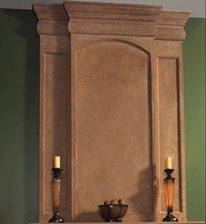 Trevi fireplace stone overmantel