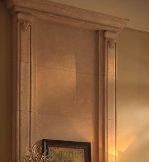 Valencia fireplace stone overmantel