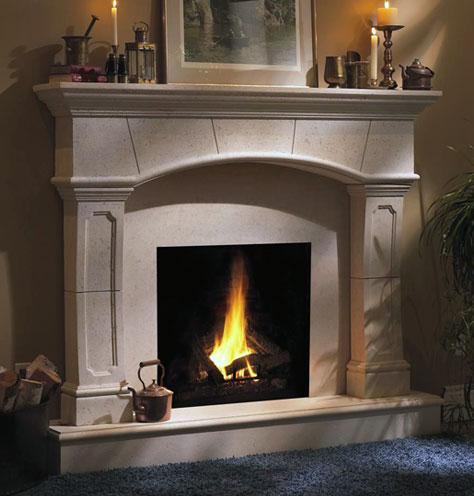 Fireplace Stone Mantel