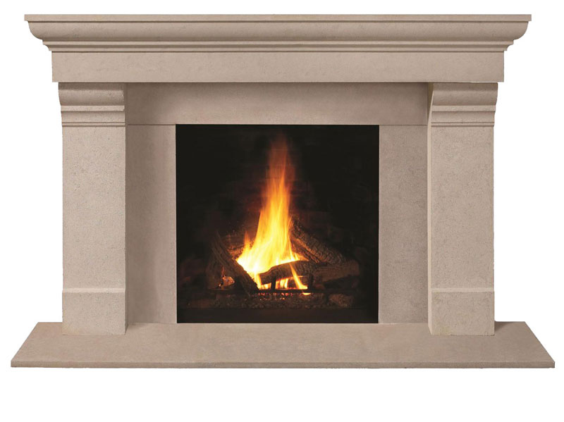 Fireplace Stone Mantel