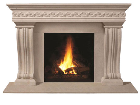 1110S.536-gs fireplace stone mantel