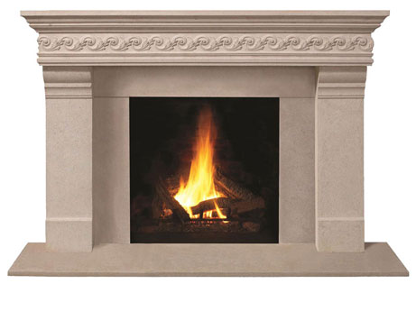 1110S.556-gs fireplace stone mantel