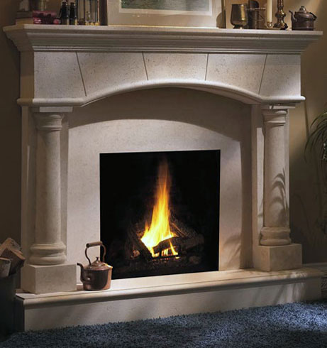 1130.80.531 fireplace stone mantel