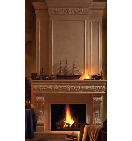 REGAL cast stone overmantel