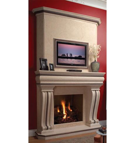 TUSCAN cast stone overmantel