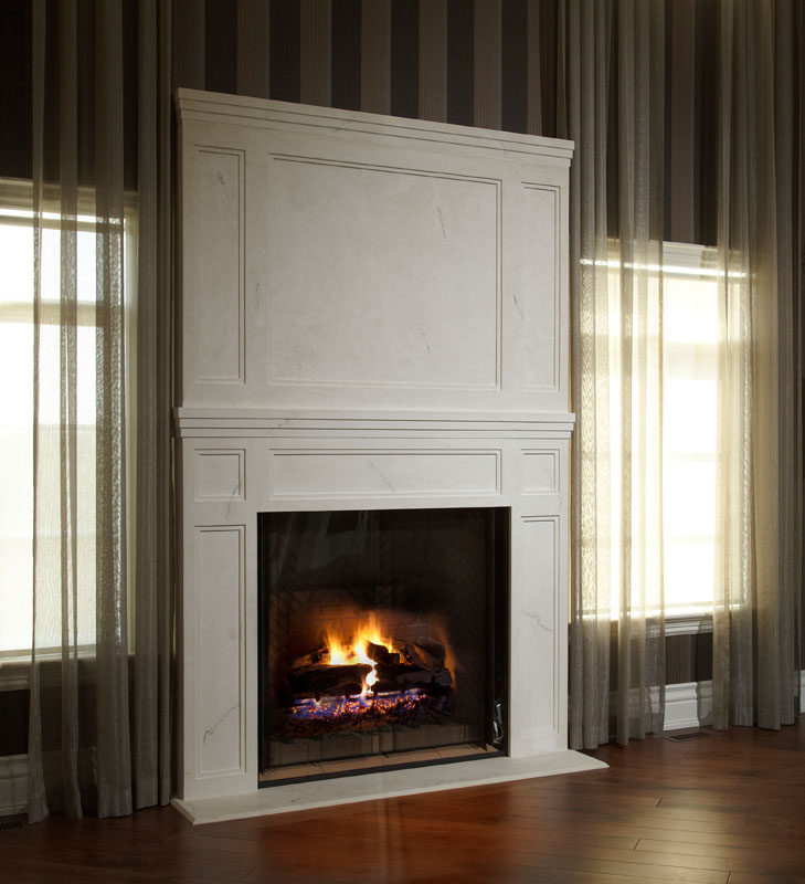 omega mantels manteaux de chemin e hottes de cuisine en pierres reconstitu es. Black Bedroom Furniture Sets. Home Design Ideas